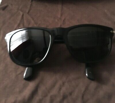 d4209f92d00d PERSOL SUNGLASSES BLACK HAND MADE In ITALY All Glass Classic Style ...
