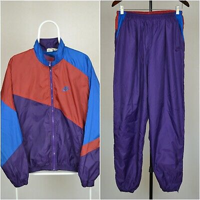 Mens Vintage 90s Nike Premier Spell Out Track Tracksuit Top Jacket Shell Suit L