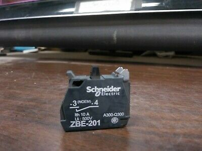 Schneider Zbe-201 Zbe201 Single Contact Block 1 No 10 Amp Ø22 New No Box
