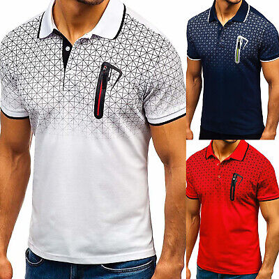 Mens Casual Short Sleeve T-Shirt Tops Slim Fit Blouse Summer Muscle Basic Tee UK