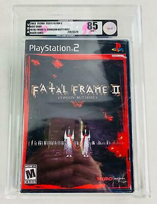 Sony PlayStation 2 (PS2) Fatal Frame II Crimson Butterfly VGA 85 NM+ Black Label
