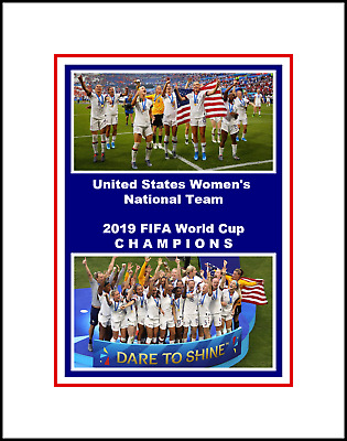 Us National Womens Soccer Team 2019 World Cup Champs Matted Collage Photo #1