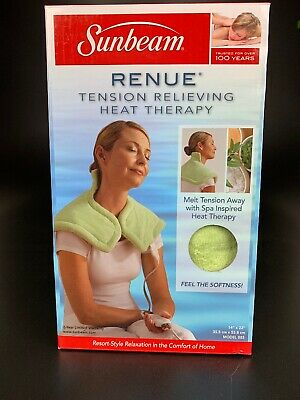 Sunbeam Renue Tension Relievng Heat Therapy Pad, Green, FREE SHIPPING!