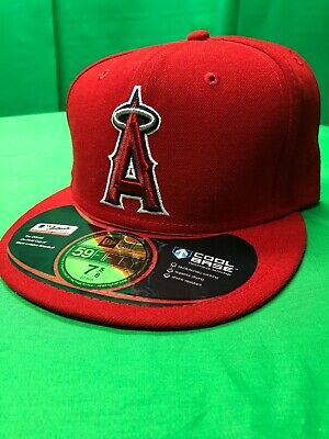 e02f756b New Era 59Fifty Los Angeles Anaheim Angels Fitted Hat (Red) MLB Cap Size 7