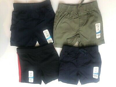 $48.00 X4 Lot Baby Boy Boys Jumping Beans Black Blue Shorts Set Size 18 Months M