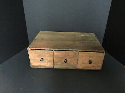 Antique Primitive American Pine 3 Drawer Apothecary AAFA About 90 - 100 Yrs Old
