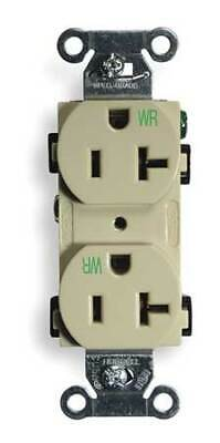 HUBBELL WIRING DEVICE-KELLEMS BR20IWR 20A Duplex Receptacle 125VAC 5-20R IV