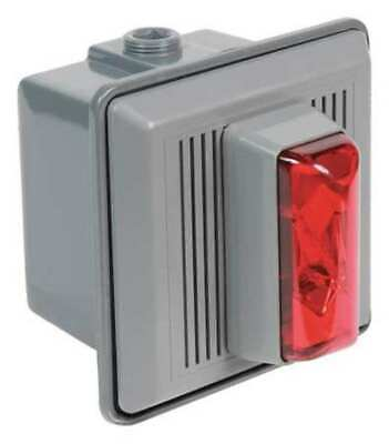 EDWARDS SIGNALING 868STRR-AQ Horn Strobe,Red,5-1/2 In. H,24VAC/DC