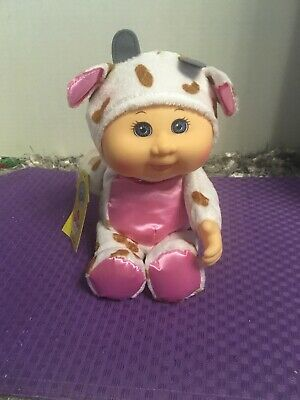 "Cabbage Patch Kids Cuties BARNYARD Friends Coco Cow 9"" Plush Doll NWT"