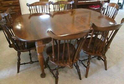 Temple Stuart Dining Room Table 6 Chairs Rockingham Early