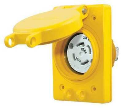 HUBBELL WIRING DEVICE-KELLEMS HBL69W76 30A Watertight Locking Receptacle3P
