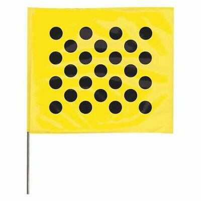 ZORO SELECT 4530YBK20204-200 Marking Flag,Black Dots/Yellow,PK100