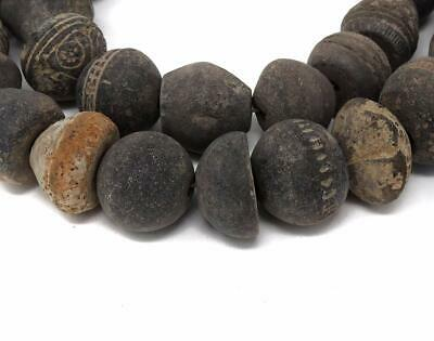Clay Spindle Whorl Beads Mali Africa 30 Inch SALE WAS $75.00