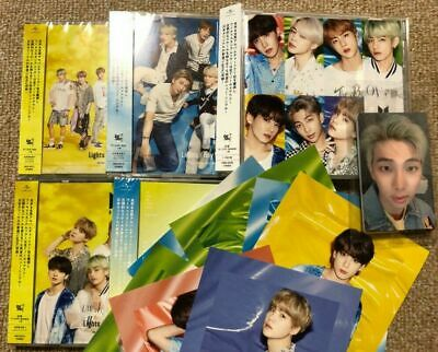 BTS JAPAN Lights / Boy With Luv Set 5CD +7 photocards Official FC FunClub Japan
