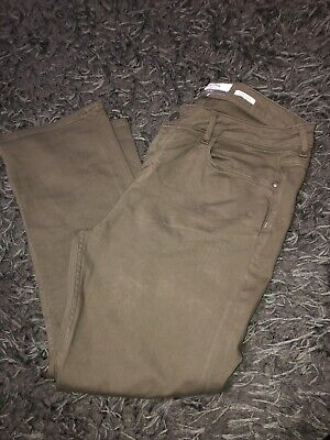 MARKS SPENCER M/&S MODAL CARGO KHAKI GREEN SLIM FIT TROUSERS 8 18 20 22 24 S R L