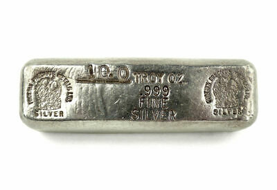 Phoenix Precious Metals 10 oz .999 Fine Silver Poured Bar