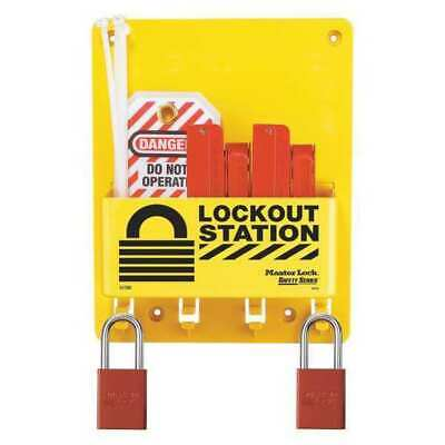 MASTER LOCK S1720E1106 Lockout Station,Filled,Elctrcl,7-3/4 InW