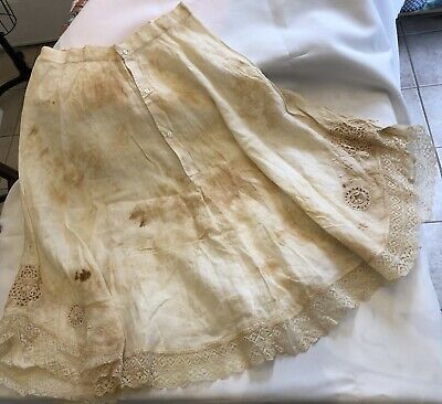 Vintage Antique Childs Skirt As Is Cotton