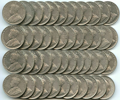 Lot of 47 Canada Nickels 1922-1940
