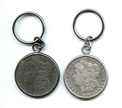 Lot of 2 Compliments of Pioneer Inn Hotel Casino Morgan Dollar Keychains