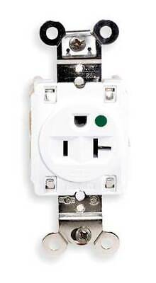 HUBBELL WIRING DEVICE-KELLEMS HBL8310W 20A Single Receptacle 125VAC 5-20R WH