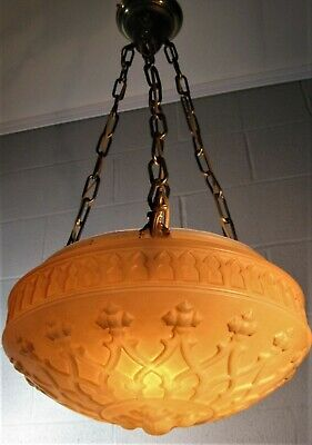 Chandelier 100 Year Old 3 Lights Edge Clamp Chains & Sockets Dinning Entry Other
