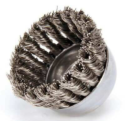 WEILER 93432 Knot Wire Cup Wire Brush, Threaded Arbor