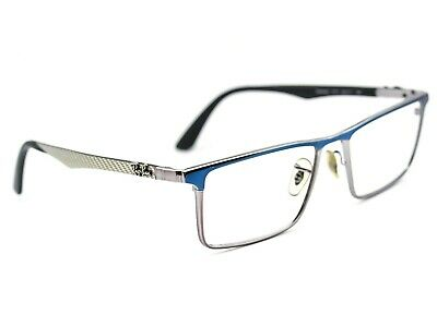 a71258eec04b Ray Ban Men's Eyeglasses RB 8409 2711 Blue Gunmetal Rectangular Frame 53[]17  140