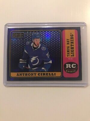 2018-19 18-19 OPC Platinum Anthony Cirelli Rookie Retro Blue Rainbow 120/149 R79