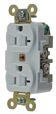 HUBBELL WIRING DEVICE-KELLEMS HBL5362W 20A Duplex Receptacle 125VAC 5-20R WH
