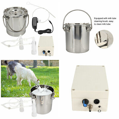 DOUBLE TANK ELECTRIC Vaccuum Pump Milking Machine For Cows