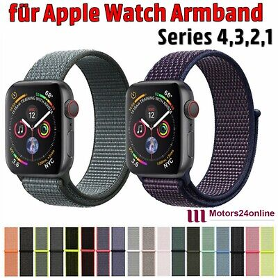 Für Apple Watch Armband Nylon Uhrenarmband Sport Loop Series 1 / 2 / 3 / 4 DE