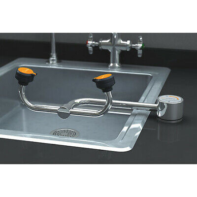 GUARDIAN EQUIPMENT G1805LH Deck-Mounted Eyewash Station with No Bowl in Chrome