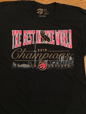 "Toronto Raptors x OVO ""The Best in the World"" Championship T-Shirt - Size Medium"