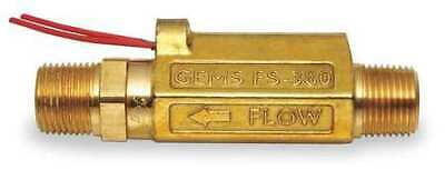 "GEMS SENSORS FS-380, 168433 3/8"" MNPT SPST NO Liquid Flow Switch 0.5 gpm"