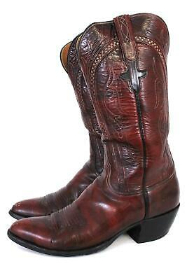 d7ae46a07e5 MENS 8.5 D M Lucchese Classic Handmade Brown Leather Cowboy Boots ...