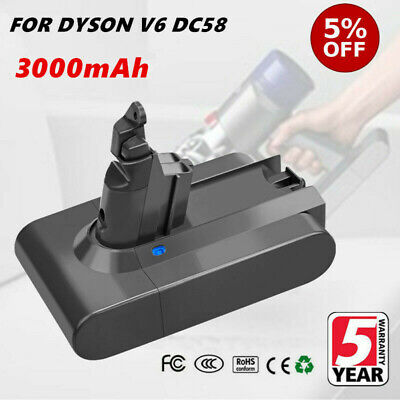 3000mAh FOR DYSON V6 DC58 DC59 ANIMAL BATTERY DC61 DC62 DC72 DC74 Absolute TP