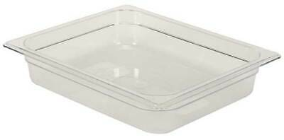 RUBBERMAID FG123P00CLR Half Size Food Pan,Cold,Clear