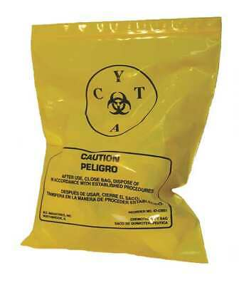 ZORO SELECT 3UAD5 Chemo Waste Bags,0.5 gal.,Yellow,PK100