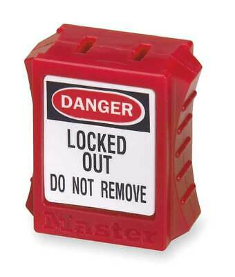 MASTER LOCK S2005 Plug Lockout,Red,5/16 In.D