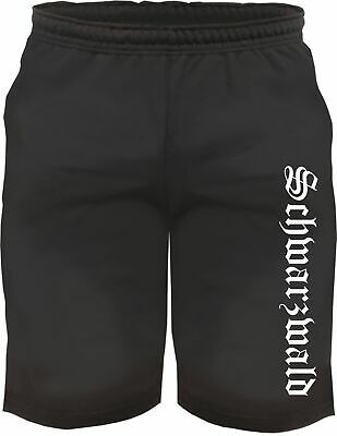 Black Forest Sweatshorts - Old German with Print - Shorts Shorts