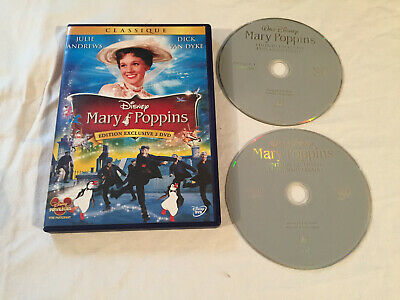 """Dvd Disney """" Mary Poppins """" N° 21 Edition Exclusive 2 Dvd / 45 Eme Anniversaire"""