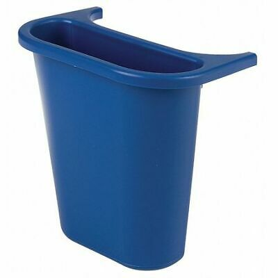 RUBBERMAID FG295073BLUE Rectangular Recycle Saddle 1 gal., Plastic, Blue