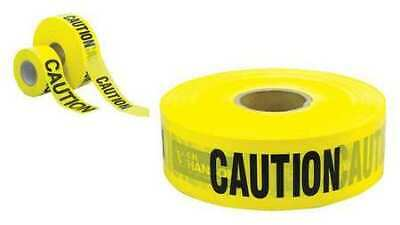 ZORO SELECT 16091 Barricade Tape,Caution,3000 ft.,2 mil