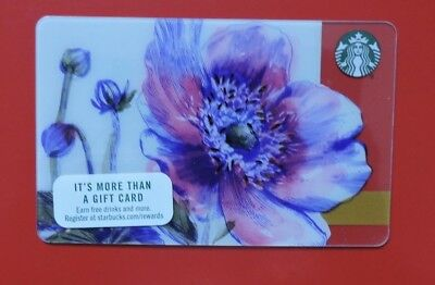 Starbucks Usa Poppies 2017 Gift Card. No Value.collectors Item