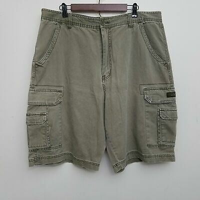 Union Bay Mens Cargo Shorts 40 Brown Khaki 100% Cotton