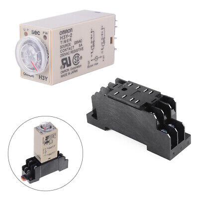 AC 220V H3Y-2 Time Delay Relay Solid State Timer 0-60S DPDT