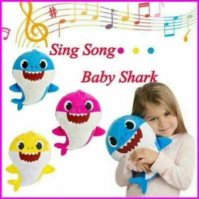 Baby Shark Plush Singing Toy Animal Music Soft Doll English Song Creative-Gift..
