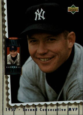 s0295 - 1994 Upper Deck Mantle Heroes #67 Mickey Mantle Second Consecutive MVP