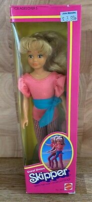 BARBIE Vintage Great Shape Skipper Doll 7417 Mattel 1983 MIB Rare!